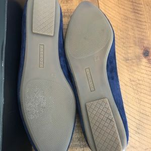 Talbots Shoes - Talbots Indigo Blue Francesca Button Flats